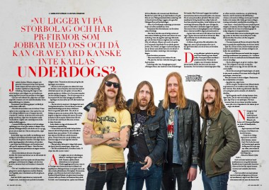 GRAVEYARD INTERVIEW #SWEDEN ROCK MAGAZINE