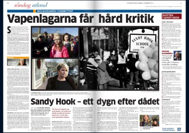 NEWS SANDY HOOK #GÖTEBORGS-POSTEN