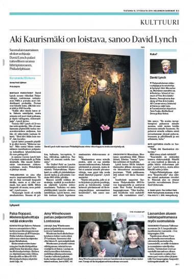 DAVID LYNCH - INTERVIEW #HELSINGIN-SANOMAT