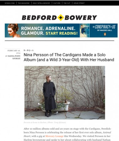 NINA PERSSON INTERVIEW #BEDFORD+BOWERY NEW YORK MAGAZINE/NYU BLOG